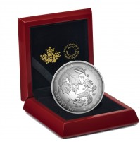 2017 Canada Fine Silver 50 Dollar Coin - Maple Leaves in Motion