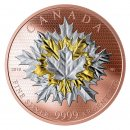 2019 Canadian $50 Maple Leaves In Motion 5 oz Reverse Rose Gold-plated Silver Coin