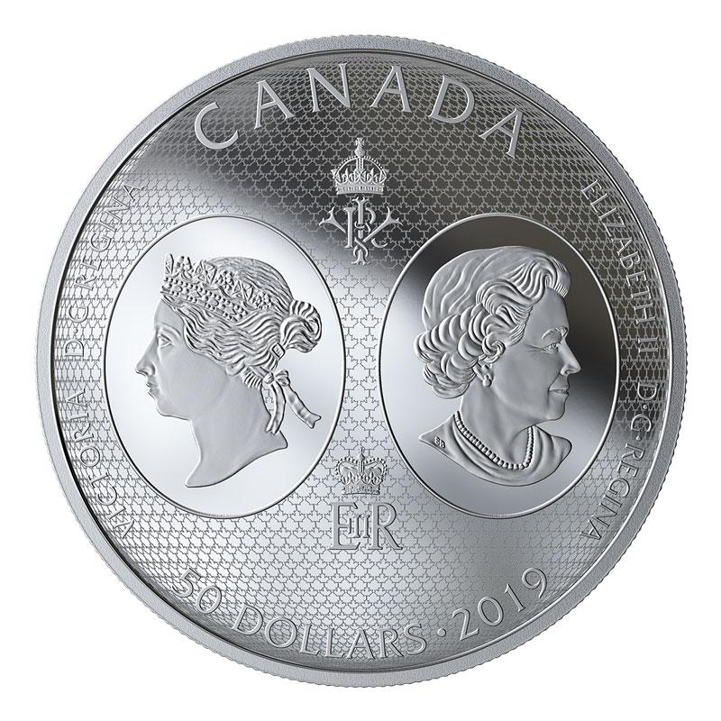 2019 Canadian 50 Birth Of Queen Victoria 200th Anniv 5 Oz Silver Coloured Coin