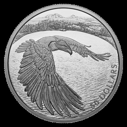 2020 Canadian $50 Courageous Bald Eagle - 5 oz Fine Silver Coin