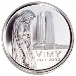 2002 Canada Sterling Silver 5 Cent Coin - 85th Anniversary of the Battle for Vimy Ridge