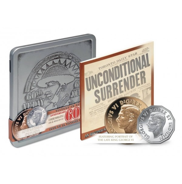 2005 VE Day Proof 5-cent and Medallion Set