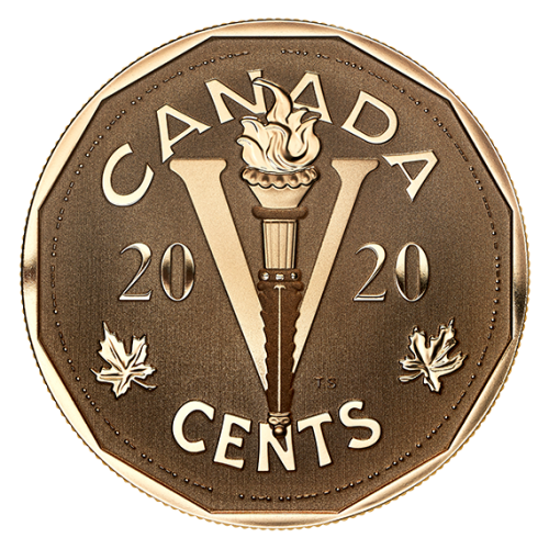 2020 Canadian 5-Cent The Canadian Home Front: The Victory Nickel - Bronze Coin