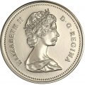 1987 Canadian 5-Cent Beaver Nickel Coin (Brilliant Uncirculated)