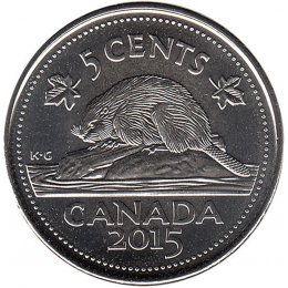 2015 Canadian 5-Cent Beaver (Brilliant Uncirculated)