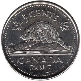 2015 Canadian 5-Cent Beaver (Brilliant Uncirculated)