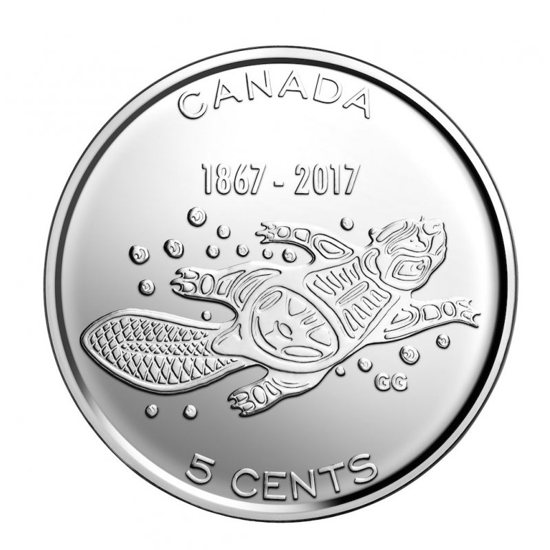 Canada 1867-2017 BU 5 Cents Canadian 150th Anniversary Living Tradition