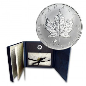 1998 (1873-) Canadian RCMP 125th Anniversary Collector Silver Maple Leaf Privy Coin & Stamp Set