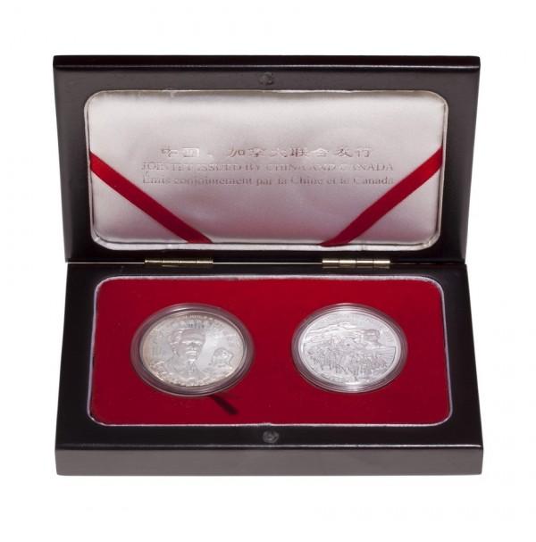 1998 Fine Silver 5 Dollar Coin Set - Norman Bethune Commemorative