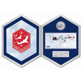 2006 Fine Silver 5 Dollar Coin & Stamp Set - Canadian Forces Snowbirds