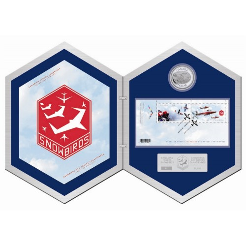 2006 Canada Fine Silver $5 Coin & Stamp Set - Canadian Forces Snowbirds