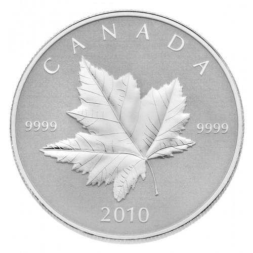 2010 Canada Fine Silver $5 Coin - Piedfort Maple Leaf