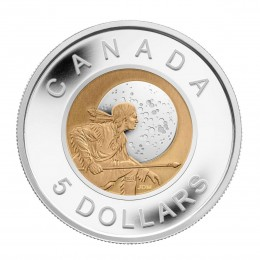 2011 Canadian $5 Hunter's Moon Sterling Silver & Niobium Coin