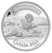 2013 Fine Silver 5 Dollar Coin - Canadian Bank Note Series: Canadian Bank of Commerce Bank Note Design