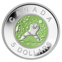 2013 Fine Silver 5 Dollar Coin - Father Ice Fishing