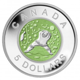 2013 Canada Fine Silver $5 Coin - Father Ice Fishing