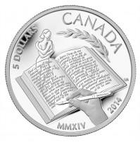 2014 Fine Silver 5 Dollar Coin - Alice Munro