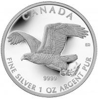 2014 Fine Silver 5 Dollar Coin - Bald Eagle