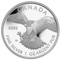 2014 Fine Silver 5 Dollar Coin - Peregrine Falcon
