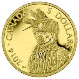 2014 Canadian $5 Portrait of Nanaboozhoo - 1/10 oz Pure Gold Coin