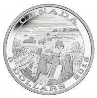 2014 Fine Silver 5 Dollar Coin - Tradition of Hunting: Bison