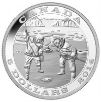 2014 Fine Silver 5 Dollar Coin - Tradition of Hunting: The Seal