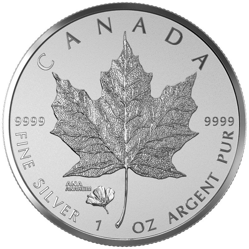 2016 Canada 1 Oz Fine Silver 5 Coin Ana California