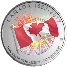2017 Fine Silver Glow-In-The-Dark 5 Dollar Coin - Proudly Canadian