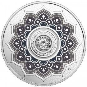 2018 Canadian $5 Birthstones: April Swarovski® Crystal & Silver Coin