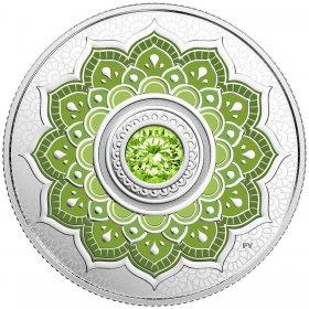 2018 Canadian $5 Birthstones: August Swarovski® Crystal & Silver Coin