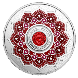 2018 Canadian $5 Birthstones: July Swarovski® Crystal & Silver Coin