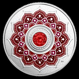 2018 Canadian $5 Birthstones: July Swarovski® Crystal & Silver Coin