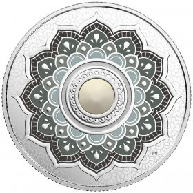 2018 Canadian $5 Birthstones: June Swarovski® Crystal & Silver Coin