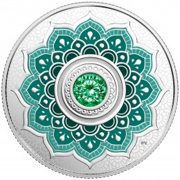 2018 Canadian $5 Birthstones: May Swarovski® Crystal & Silver Coin