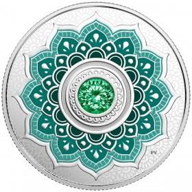 2018 Canadian $5 Birthstones: May Swarovski® Crystal & Silver Coin