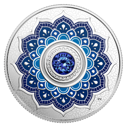 2018 Canadian $5 Birthstones: September Swarovski® Crystal & Silver Coin