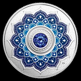 2018 Canadian $5 Birthstones: September Swarovski® Crystal & Silver Coin