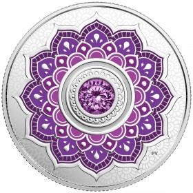 2018 Canadian $5 Birthstones: February Swarovski® Crystal & Silver Coin