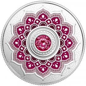 2018 Canadian $5 Birthstones: January Swarovski® Crystal & Silver Coin