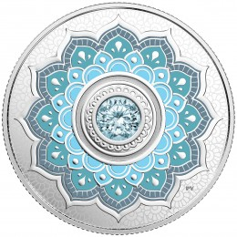 2018 Canadian $5 Birthstones: March Swarovski® Crystal & Silver Coin