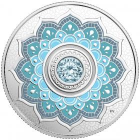 2018 Canadian $5 Birthstones: March Swarovski® Crystal & Silver Coin