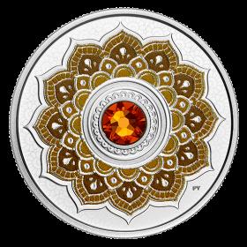 2018 Canadian $5 Birthstones: November Swarovski® Crystal & Silver Coin
