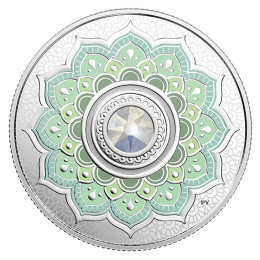 2018 Canadian $5 Birthstones: October Swarovski® Crystal & Silver Coin