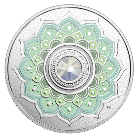 2018 Canadian $5 Birthstones: October Swarovski® Crystal & Silver Coin