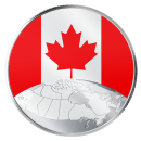 2019 Canadian $5 This is Canada! - 1/4 oz Fine Silver Coloured Coin