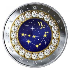 2019 Canadian $5 Zodiac Series: Capricorn - Swarovski® Crystal & Fine Silver Coin