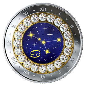2019 Canadian $5 Zodiac Series: Cancer - Swarovski® Crystal & Fine Silver Coin