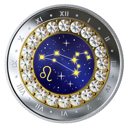 2019 Canadian $5 Zodiac Series: Leo - Swarovski® Crystal & Fine Silver Coin