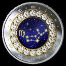 2019 Canadian $5 Zodiac Series: Virgo - Swarovski® Crystal & Fine Silver Coin