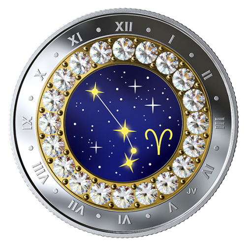 2019 Canadian $5 Zodiac Series: Aries - Swarovski® Crystal & Fine Silver Coin
